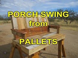 pallet porch swing youtube