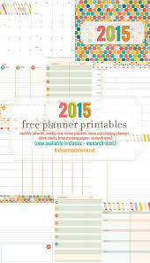 printable planner pages for 2015 free planner and calendar more 2015 the handmade home