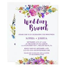 after wedding brunch invitation post wedding brunch invitations announcements zazzle