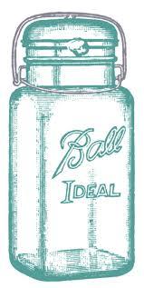 5 best images of ball jar printables vintage mason jar clip art