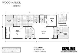 wood manor m988 by skyline homes