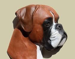 boxer dog statue deutscher boxer etsy