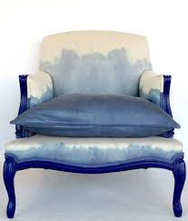White Upholstered Chair by Absolutely Dying Over This Blue And White Dip Dye Upholstered
