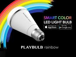 playbulb rainbow stylish smart color led light bulb by mipow usa