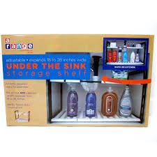 Kitchen Shelf Organizer by Amazon Com 2 Tier Expandable Adjustable Under Sink Shelf