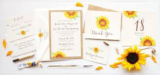 sunflower wedding invitations custom invitations unique wedding invitations watercolor