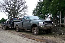 Ford Trucks Mudding Lifted - powerstroke mudding with dump trailer youtube