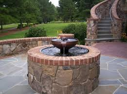 Fire Pit With Water Feature - this fire pit water fountain combination is just one stunning