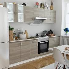 cuisine et d駱endance complet cuisine complète avec four intégré et plaque de cuisson aspect chêne