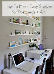 how to make wall shelves for postcards u0026 art it u0027s easy young