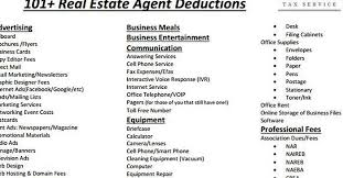 cheat sheet of 100 legal tax deductions for real estate agents