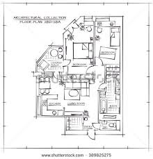 architectural floor plans architectural professional vector sketch floor plan stock vector