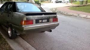 mitsubishi iswara proton saga 12v d i y exhaust on fire