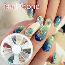 12 colors natural jade gravel rhinestone nail art crystal stone