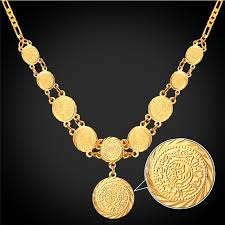 coin jewelry necklace images Kpop pendant necklaces jewelry ancient coin money symbol yellow jpg