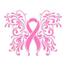 breast cancer ribbon butterfly vinyl decal silhouette