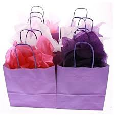 purple gift bags 10 purple paper party bags with tissue paper recyclable twist