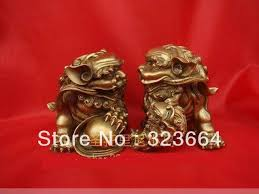 small foo dogs scy small pair bronze foo dogs lions statues 2 4 h in