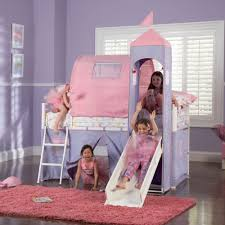 Princess Castle Bunk Bed To It Princess Junior Loft Tent Bed With Slide