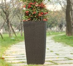 self watering planter large plating pot outdoor flower pot