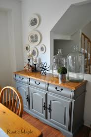 rustic maple painted buffet in country chic paint u0027s cobblestone