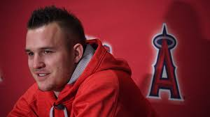 What Is Bryce Harper Haircut Called Angels Mike Trout Arrives At Camp With Goals Mlb Com