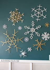 popsicle sticks snowflakes a and a glue gun