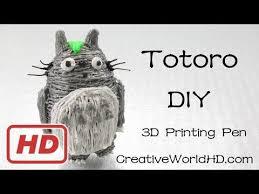 27 best 3doodler creations by how to make totoro 3d printing pen creations 3doodler diy