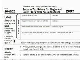 2014 Tax Tables 1040ez How To Complete And File A 1040ez Tax Form Tom Noah Series