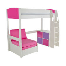 High Sleeper Beds With Sofa by Study Bunk Bed Frame With Futon Chair Roselawnlutheran