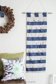 easy diy advent calendar with ribbon and burlap 12monthsofdiy