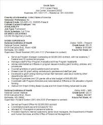 Resume Usa Format Resume Format For Government Jobs Government Job Resume Sample