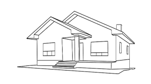 drawing home drawing of a house for sale stock footage video 3457073 shutterstock