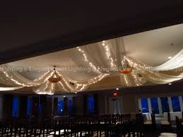 Christmas Lights Ceiling sheer ivory ceiling draping u0026 twinkle lights elegant event