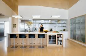 kitchen unit ideas modern kitchen ideas with glass unit and light wood flooring 3724