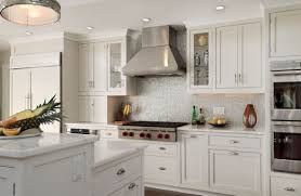kitchen adorable stacked stone backsplash white kitchen cabinet