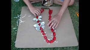 Money Leis How To Jazz Up A Simple Candy Lei Chain Request Youtube