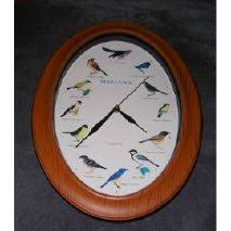 Grande Horloge Murale Carrée En Bois Vintage Achat Nodshop Horloge Oiseaux Horloge Murale Avec 12 Espces D