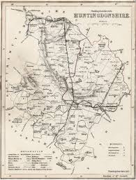 England County Map by 1848 Map Of The County Of Huntingdonshire England