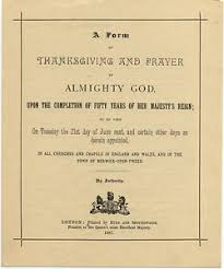 1887 original golden jubilee thanksgiving prayer