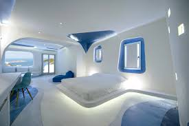 new blue suites in greece are made up of cocoon elements and