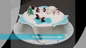 Christmas Cake Decorations Amazon by Decoration Penguin Christmas Cake Youtube
