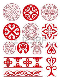 floral ornaments of ancient russ vector tracery royalty free