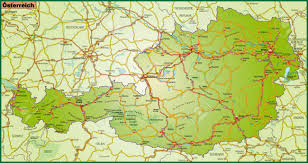 Map Austria Map Of Austria With Highways Stock Photo Picture And Royalty Free