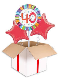 40th birthday balloons delivery radiant 40th birthday balloon delivered inflated in uk