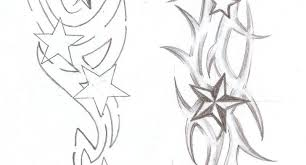 tribal star tattoos designs nautical star tribal tattoo sketch