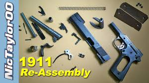 1911 assembly how to put it back together youtube
