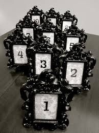 silver frames for wedding table numbers black baroque damask wedding table number with frame set of 5