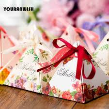 wedding candy favors aliexpress buy youranwish 50pcs wedding candy box favors box
