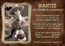 country 1st birthday cowgirl and cowboy invitations make